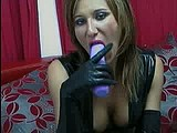 slave rebeca latex ass play and dildo suck webcam