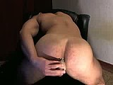 rob hunters muscular ass takes dildo webcam