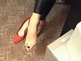scarlett domme dangles shoe webcam