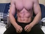 big muscles show  webcam